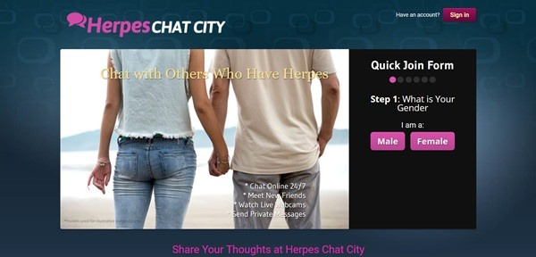 herpes chat city